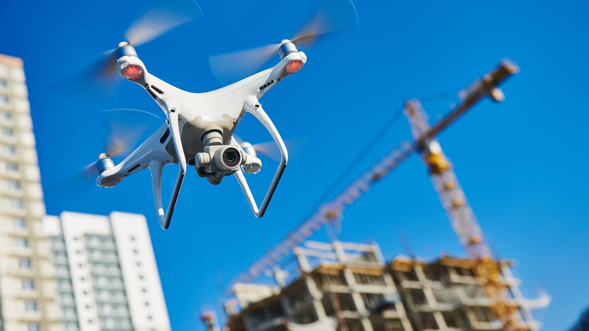 Illustration d'un drone en plain vol