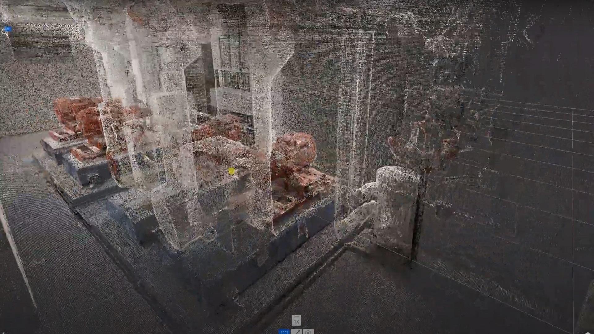 pointcloud d'une salle machine